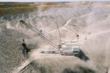 Mining Photo Stock Library - Dragline removes overburden and stockpiles in huge open cut coal mine in Queensland. ( Weight: 2  New Image: NO)