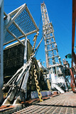 Mining Photo Stock Library - drill rig derrick with blue sky behind ( Weight: 5  New Image: NO)