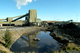 Mining Photo Stock Library - coal wash plant with water dam in foreground ( Weight: 3  New Image: NO)