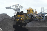 Mining Photo Stock Library - close up shot of a coal reclaimer working on stockpiles at terminal. ( Weight: 2  New Image: NO)