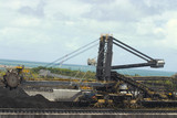 Mining Photo Stock Library - close up of coal reclaimer working at shipping terminal. ( Weight: 4  New Image: NO)