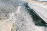 Mining Photo Stock Library - aerial view of open cut coalmine and high wall.  truck and digger rotation in the pit. ( Weight: 1  New Image: NO)