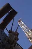 Mining Photo Stock Library - close up vertical shot of a drill rig. ( Weight: 5  New Image: NO)