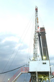 Mining Photo Stock Library - drill rig in dawn light. ( Weight: 1  New Image: NO)