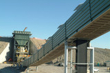 Mining Photo Stock Library - construction of coal dump hopper and conveyor on mine site. ( Weight: 3  New Image: NO)