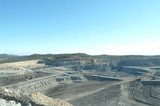 Mining Photo Stock Library - wide view of open cut coal mine. ( Weight: 3  New Image: NO)