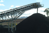 Mining Photo Stock Library - close up of coal conveyor delivering coal to stockpile on mine site. ( Weight: 3  New Image: NO)