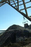 Mining Photo Stock Library - dragline bucket in use shot from the operators seat. ( Weight: 4  New Image: NO)