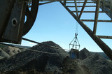 Mining Photo Stock Library - dragline bucket in use shot from the operators seat. ( Weight: 3  New Image: NO)