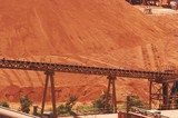 Mining Photo Stock Library - large bauxite stockpile with loader conveyor in foreground ( Weight: 1  New Image: NO)