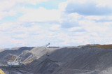 Mining Photo Stock Library - dragline shifting overburden in open cut coal mine. ( Weight: 3  New Image: NO)