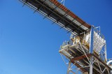 Mining Photo Stock Library - electric cabling up high on conveyor platform ( Weight: 4  New Image: NO)