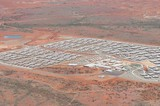 Mining Photo Stock Library - aerial photo of 3000 person workers camp in iron ore country. ( Weight: 1  New Image: NO)