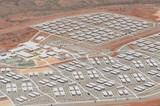 Mining Photo Stock Library - great aerial shot of a 3000 person mine camp in iron ore country. ( Weight: 1  New Image: NO)