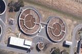 Mining Photo Stock Library - vertical, aerial shot of water treatment plant. ( Weight: 1  New Image: NO)