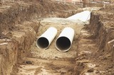 Mining Photo Stock Library - drainage water pipes in pit at construction  site. ( Weight: 1  New Image: NO)