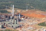 Mining Photo Stock Library - Aerial photo of alumina refinery.  Bauxite stockpiled in background. ( Weight: 1  New Image: NO)