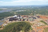 Mining Photo Stock Library - aerial shot of bauxite and alumina refinery with township in background. ( Weight: 1  New Image: NO)
