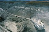 Mining Photo Stock Library - aerial photo of dragline moving overburden in open cut coal mine. Stockpiles in background. ( Weight: 1  New Image: NO)