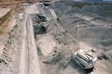 Mining Photo Stock Library - aerial photo of dragline moving overburden in open cut coal mine. Excavator and truck rotation in background. ( Weight: 1  New Image: NO)