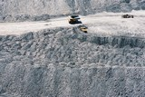 Mining Photo Stock Library - Aerial photo of haul road at dump site in open cut coal mine. ( Weight: 1  New Image: NO)