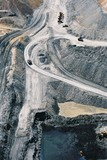 Mining Photo Stock Library - Aerial photo of access road in open cut coal mine ( Weight: 1  New Image: NO)