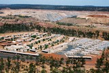 Mining Photo Stock Library - aerial photo of mine camp adjacent to open cut coal mine. ( Weight: 1  New Image: NO)