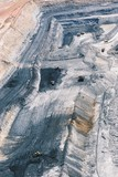 Mining Photo Stock Library - wide vertical aerial photo of open cut coal mine. ( Weight: 1  New Image: NO)