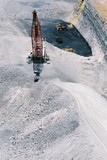 Mining Photo Stock Library - aerial photo of dragline in open cut coal mine. ( Weight: 1  New Image: NO)