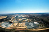 Mining Photo Stock Library - wide aerial photo of working open cut coal mine in remote environment. ( Weight: 1  New Image: NO)