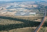 Mining Photo Stock Library - long haul access road in open cut coal mine.  shot very wide and aerial. ( Weight: 1  New Image: NO)