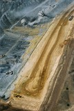 Mining Photo Stock Library - aerial vertical shot of dragline and haul trucks in open cut coal mine. ( Weight: 1  New Image: NO)