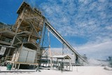 Mining Photo Stock Library - processing plant in gold mine with blue sky behind ( Weight: 1  New Image: NO)