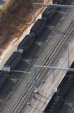 Mining Photo Stock Library - aerial photo of heavy rail carriages cars carrying coal. ( Weight: 1  New Image: NO)