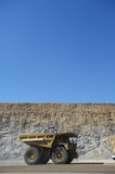 Mining Photo Stock Library - vertical shot of haul truck in open cut coal mine with high walls and blue sky behind. ( Weight: 1  New Image: NO)