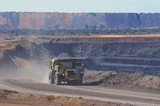 Mining Photo Stock Library - loaded haul truck in open cut mine carrying overburden. ( Weight: 1  New Image: NO)