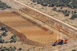 Mining Photo Stock Library - excavator stripping topsoil prior to mining.  unsual photo taken as an aerial. ( Weight: 1  New Image: NO)