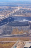 Mining Photo Stock Library - high aerial vertical image of open cut coal mine.  high walls and mine operations clearly seen. ( Weight: 1  New Image: NO)