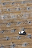 Mining Photo Stock Library - close up aerial as a birds eye view of worker and ute loading blast holes at open cut mine site. ( Weight: 1  New Image: NO)