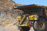 Mining Photo Stock Library - close up photo of yellow 793  haul truck in open cut coal mine. ( Weight: 1  New Image: NO)
