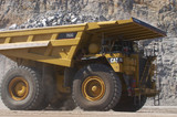 Mining Photo Stock Library - close up photo of yellow haul truck in open cut coal mine. ( Weight: 1  New Image: NO)