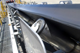 Mining Photo Stock Library - Close up photo of a new coal conveyor with walkway beside. ( Weight: 1  New Image: NO)