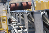 Mining Photo Stock Library - close up of a new coal conveyor at a coal terminal.  could be a conveyor in any mine. ( Weight: 1  New Image: NO)