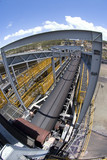 Mining Photo Stock Library - wide photo of multi level coal conveyors arriving at coal terminal.  coal is delivered to stockpiles. ( Weight: 1  New Image: NO)