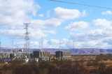 Mining Photo Stock Library - power station at a remote mine site.  transmission tower standing tall. ( Weight: 1  New Image: NO)