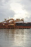 Mining Photo Stock Library - shiploader loading product into a ship at the port of a mine site. ( Weight: 1  New Image: NO)