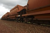 Mining Photo Stock Library - close up photo of rail train  carriages moving at mine site. ( Weight: 1  New Image: NO)