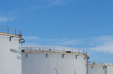 Mining Photo Stock Library - photo of large fuel storage silos.  blue sky behind. ( Weight: 1  New Image: NO)