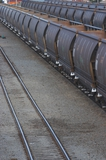 Mining Photo Stock Library - close up photo of coal heavy rail carriages ( Weight: 1  New Image: NO)