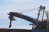 Mining Photo Stock Library - shiploader loading product into a ship.  close up of actual loading. ( Weight: 1  New Image: NO)